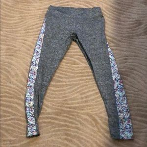 Workout leggings gray with multicolor panels